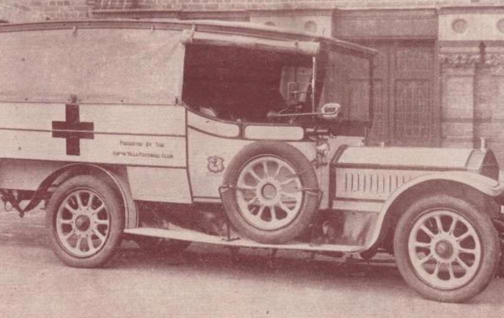 The Aston Villa Ambulance Car used in the war