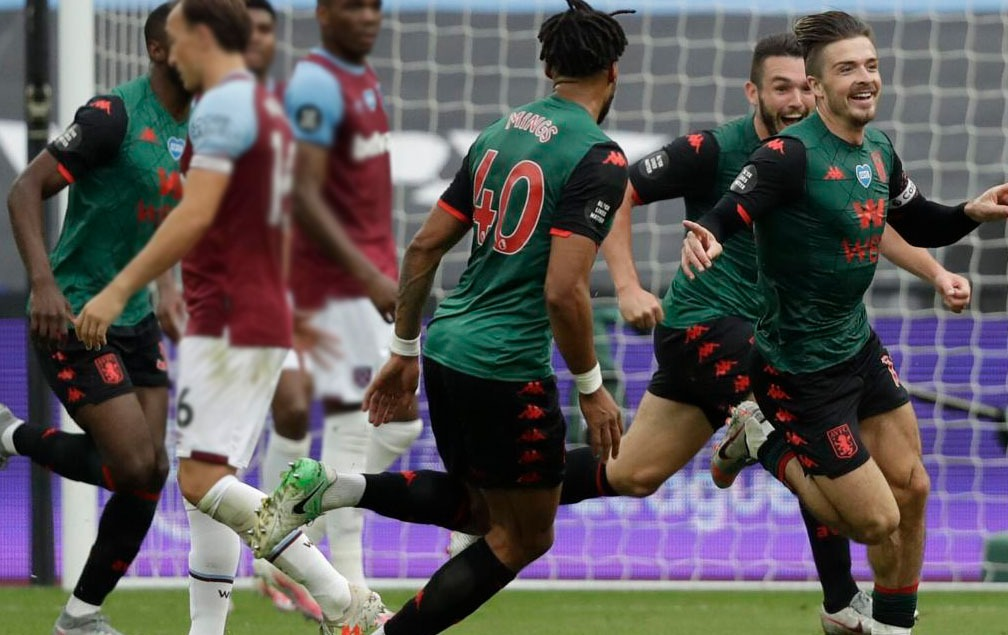 Grealish involved with both goals at West Ham