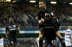 Adomah scored both goals against QPR