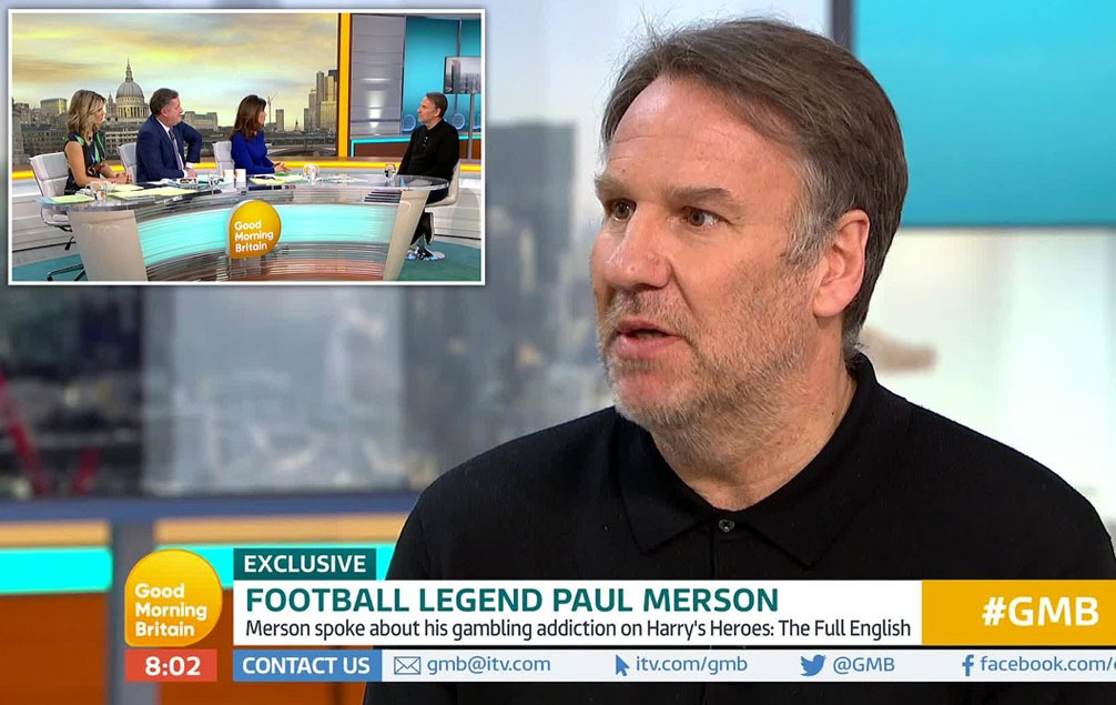 Paul Merson battled with a gambling addiction