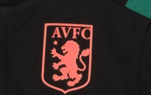 Aston Villa logo on training wear