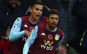 Trez celebrates his goal with El Ghazi