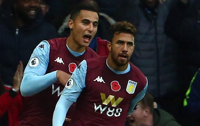 Trez celebrates his goal with El Ghazi