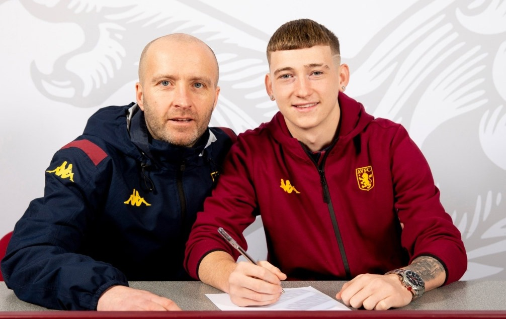 Louie Barry will hope to play with Villa in the Premier League