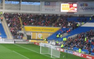 Away End at Cardiff City Stadium.