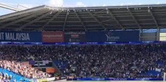 Over 4,500 Aston Villa fans travelled to Cardiff.