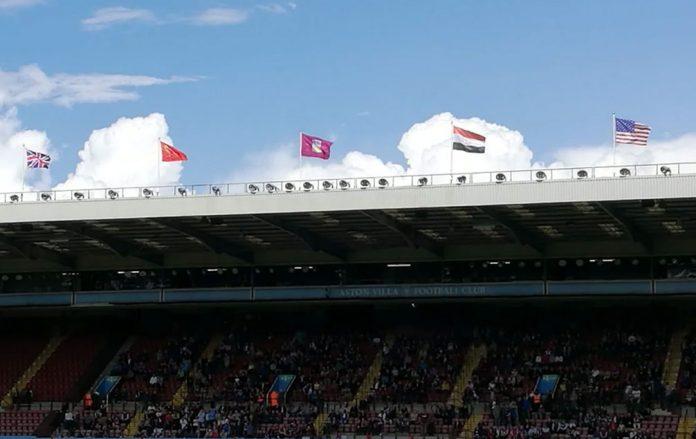 Flags at Villa Park