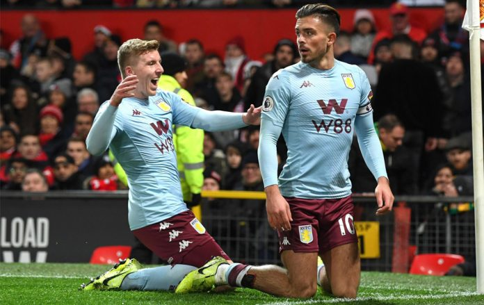 Grealish and Taggart celebrate the opener