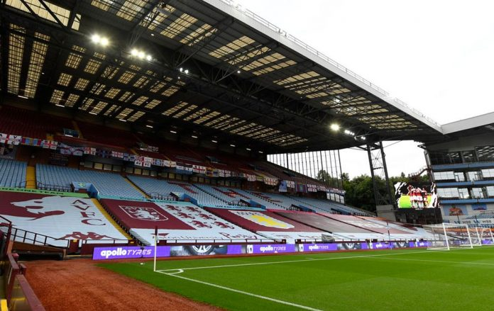 Villa Park without supporters