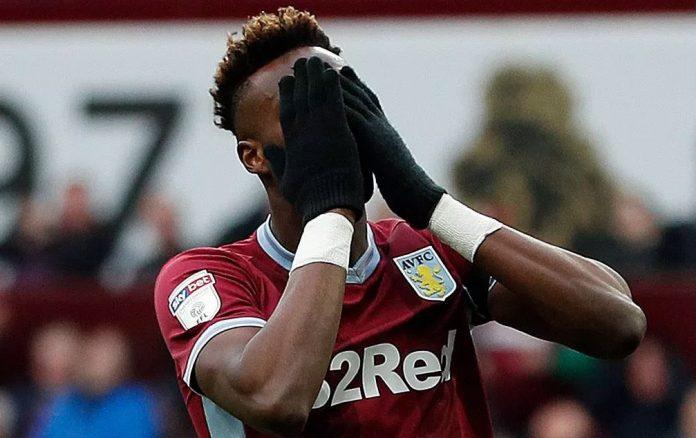 Abraham scored for Chelsea against Villa